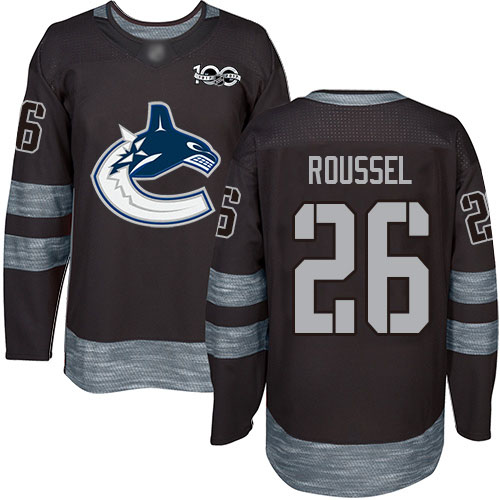 Canucks #26 Antoine Roussel Black 1917-2017 100th Anniversary Stitched Hockey Jersey