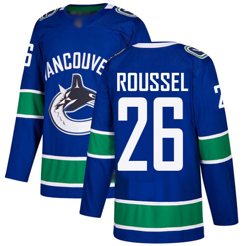 Canucks #26 Antoine Roussel Blue Home Authentic Stitched Hockey Jersey