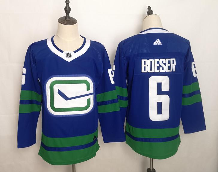 Canucks 6 Brock Boeser Blue Adidas Jerseys