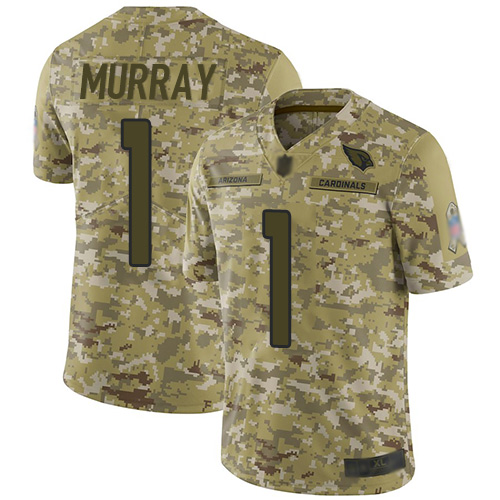 Cardinals #1 Kyler Murray Camo Men's Stitched Football Limited 2018 Salute to Service Jersey