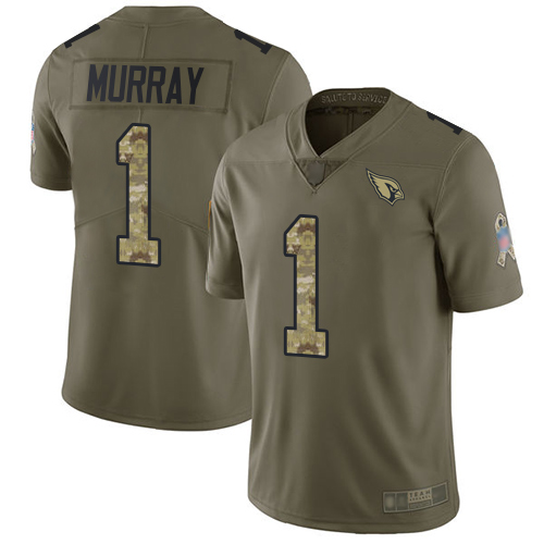 Cardinals #1 Kyler Murray Olive Camo Men's Stitched Football Limited 2017 Salute to Service Jersey