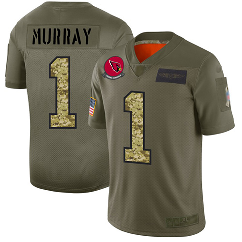 Cardinals #1 Kyler Murray Olive Camo Men's Stitched Football Limited 2019 Salute To Service Jersey