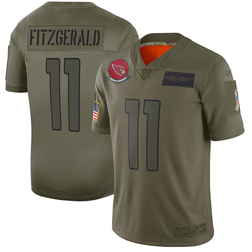 Cardinals #11 Larry Fitzgerald Camo Men's Stitched Football Limited 2019 Salute To Service Jersey