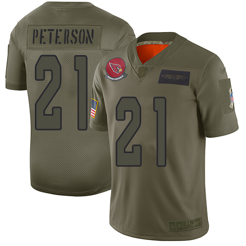Cardinals #21 Patrick Peterson Camo Men's Stitched Football Limited 2019 Salute To Service Jersey