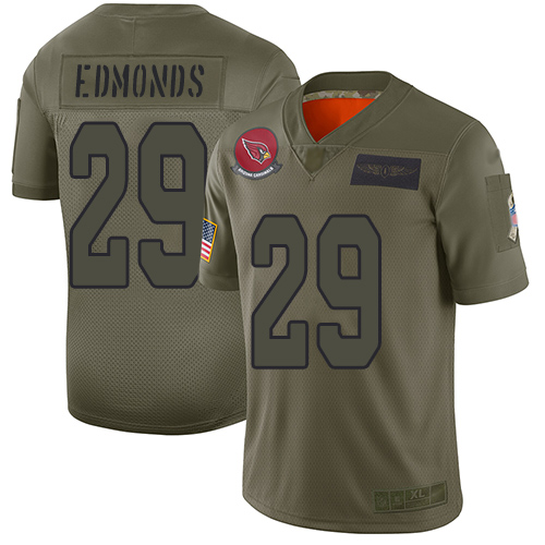 Cardinals #29 Chase Edmonds Camo Men's Stitched Football Limited 2019 Salute To Service Jersey