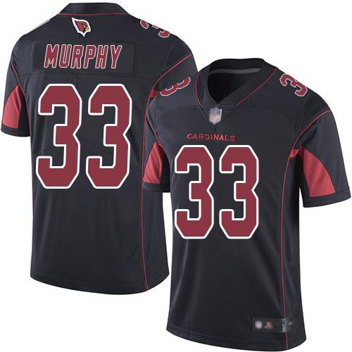Cardinals #33 Byron Murphy Black Men's Stitched Football Limited Rush Jersey