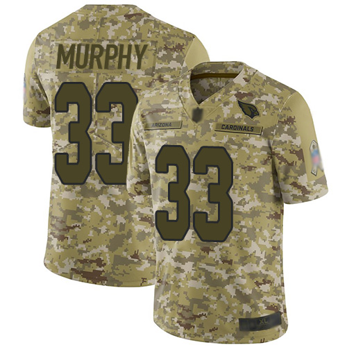 Cardinals #33 Byron Murphy Camo Men's Stitched Football Limited 2018 Salute to Service Jersey