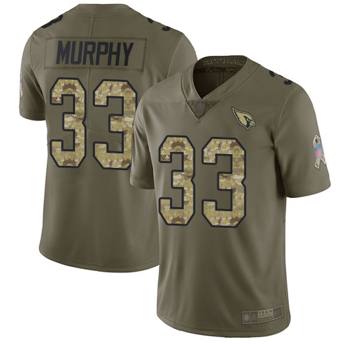 Cardinals #33 Byron Murphy Olive Camo Men's Stitched Football Limited 2017 Salute to Service Jersey
