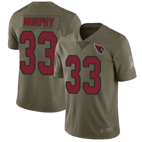 Cardinals #33 Byron Murphy Olive Men's Stitched Football Limited 2017 Salute to Service Jersey