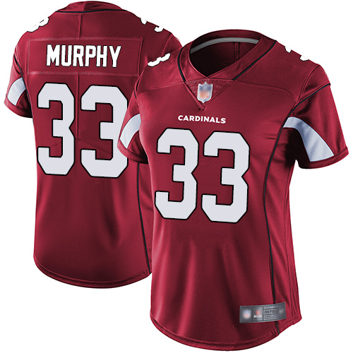 Cardinals #33 Byron Murphy Red Team Color Women's Stitched Football Vapor Untouchable Limited Jersey