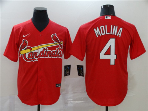 Cardinals 4 Yadier Molina Red 2020 Nike Cool Base Jersey