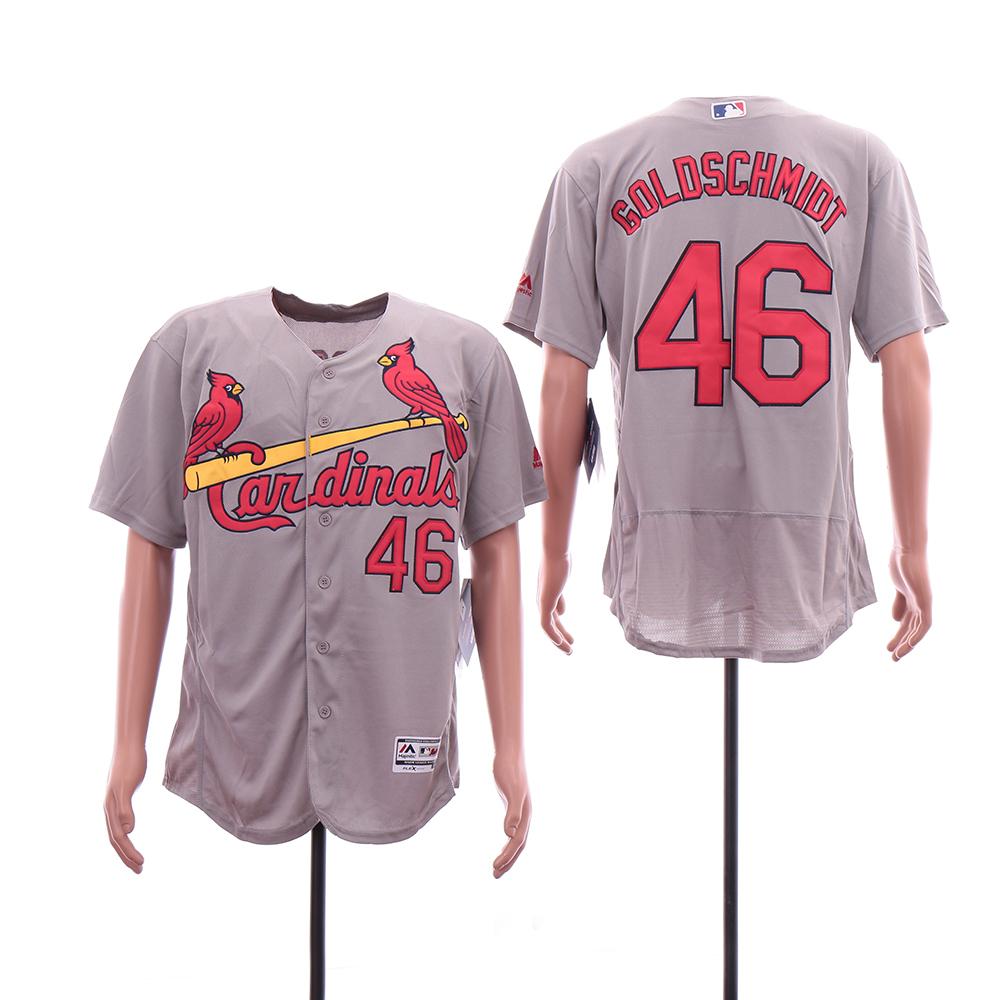 Cardinals 46 Paul Goldschmidt Gray Flexbase Jersey
