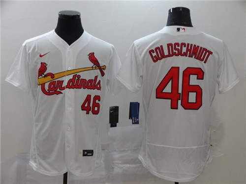 Cardinals 46 Paul Goldschmidt White 2020 Nike Flexbase Jersey