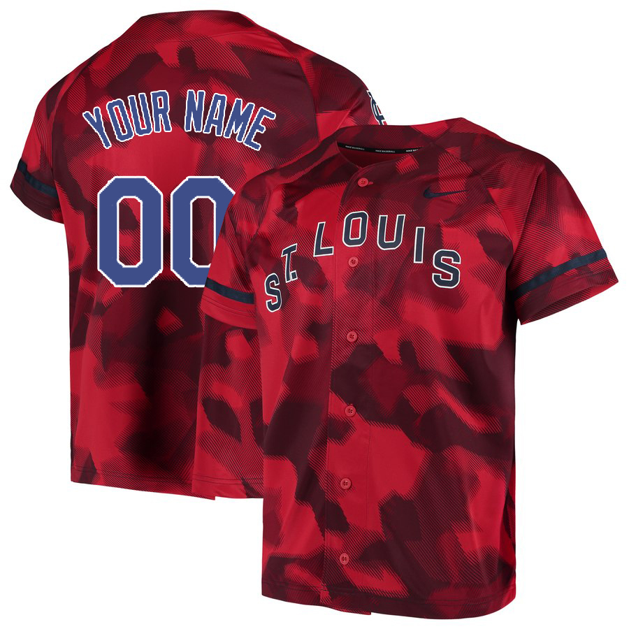 Cardinals Red Camo Fashion Men's Customized Jersey