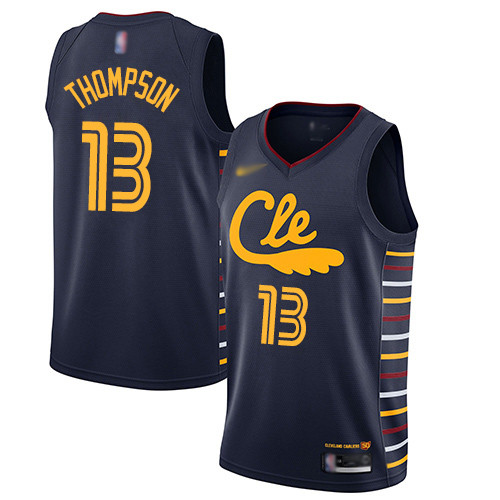 Cavaliers #13 Tristan Thompson Navy Basketball Swingman City Edition 2019 20 Jersey