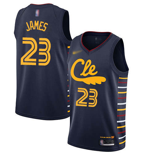 Cavaliers #23 LeBron James Navy Basketball Swingman City Edition 2019 20 Jersey