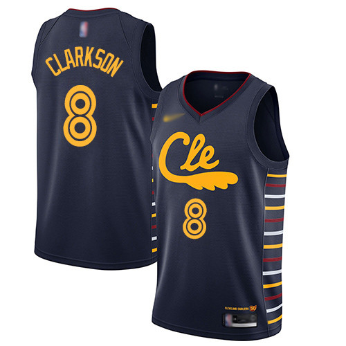Cavaliers #8 Jordan Clarkson Navy Basketball Swingman City Edition 2019 20 Jersey