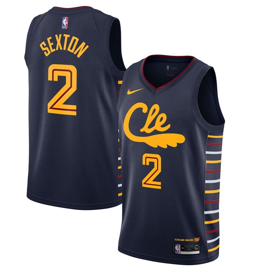 Cavaliers 2 Collin Sexton Black 2019-20 Nike Swingman Jersey