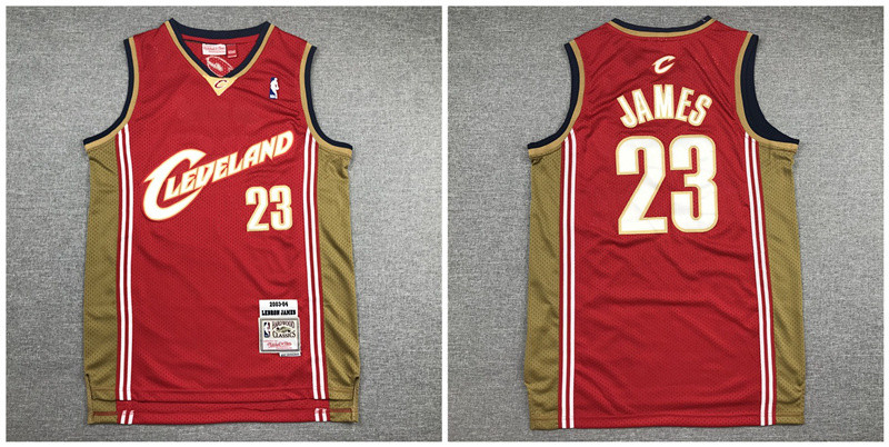 Cavaliers 23 Lebron James Red 2003-04 Hardwood Classics Jersey