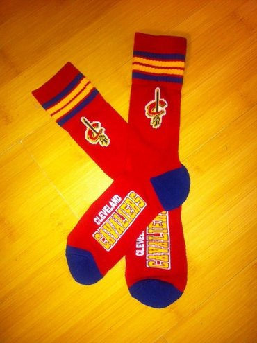 Cavaliers Team Logo Red NBA Socks