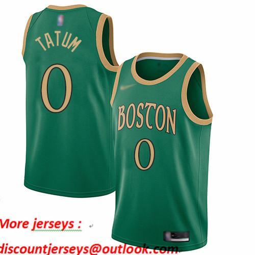 Celtics #0 Jayson Tatum Green Basketball Swingman City Edition 2019 20 Jersey