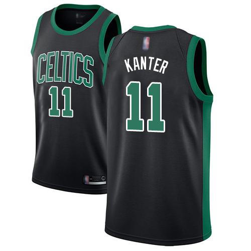 Celtics #11 Enes Kanter Black Basketball Swingman Statement Edition Jersey