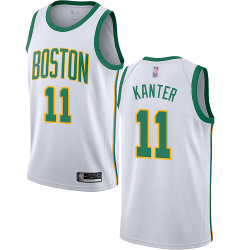 Celtics #11 Enes Kanter White Basketball Swingman City Edition 2018 19 Jersey