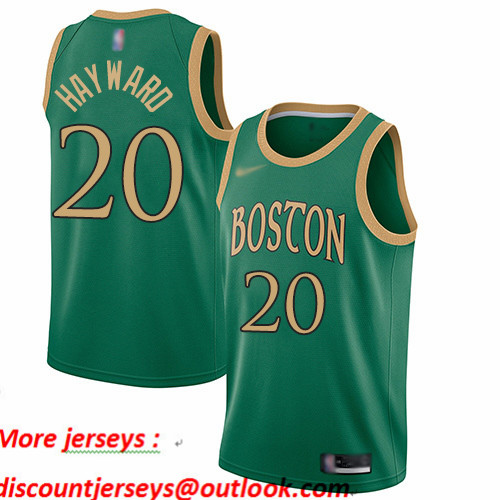 Celtics #20 Gordon Hayward Green Basketball Swingman City Edition 2019 20 Jersey