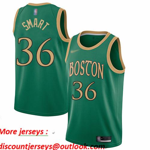 Celtics #36 Marcus Smart Green Basketball Swingman City Edition 2019 20 Jersey