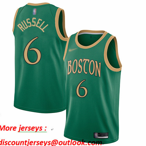 Celtics #6 Bill Russell Green Basketball Swingman City Edition 2019 20 Jersey