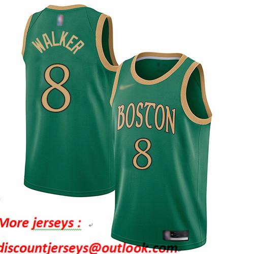 Celtics #8 Kemba Walker Green Basketball Swingman City Edition 2019 20 Jersey