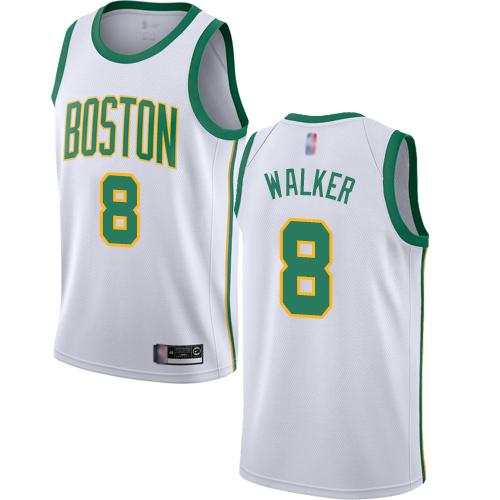 Celtics #8 Kemba Walker White Basketball Swingman City Edition 2018 19 Jersey