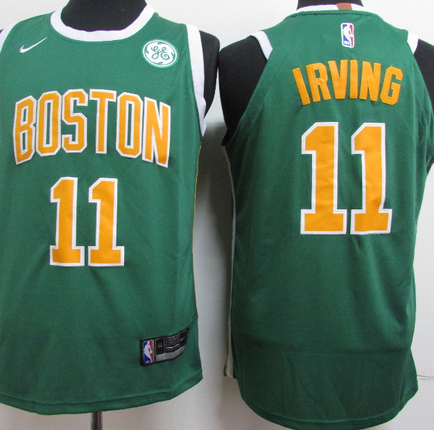Celtics 11 Kyrie Irving Green 2018-19 Earned Edition Nike Authentic Jersey