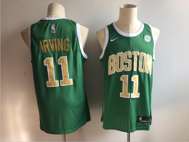 Celtics 11 Kyrie Irving Green 2018-19 Earned Edition Nike Swingman Jersey