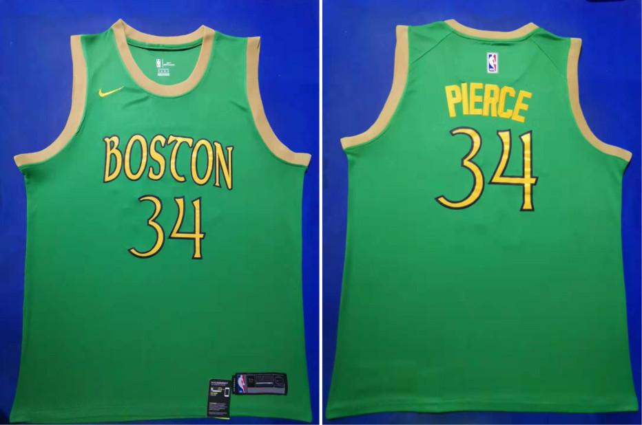 Celtics 34 Paul Pierce Green 2019-20 City Edition Swingman Jersey