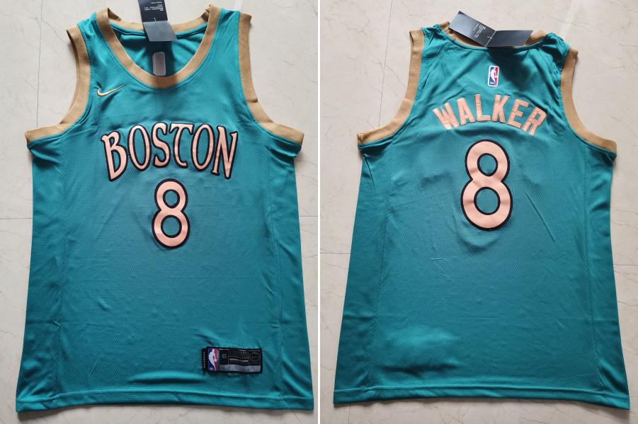 Celtics 8 Kemba Walker Blue 2019-20 City Edition Swingman Jersey