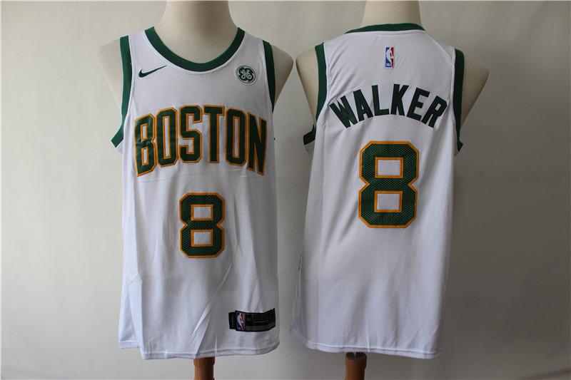 Celtics 8 Kemba Walker White City Edition Nike Swingman Jerseys