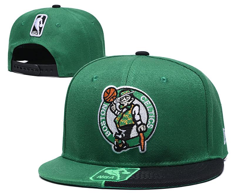 Celtics Team Logo Green Black Adjustable Hat GS