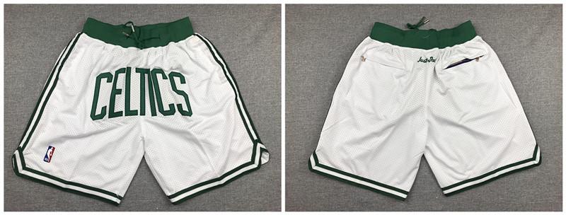 Celtics White Retro Pockets Swingman Shorts