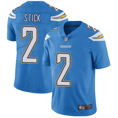 Chargers #2 Easton Stick Electric Blue Alternate Men's Stitched Football Vapor Untouchable Limited Jersey