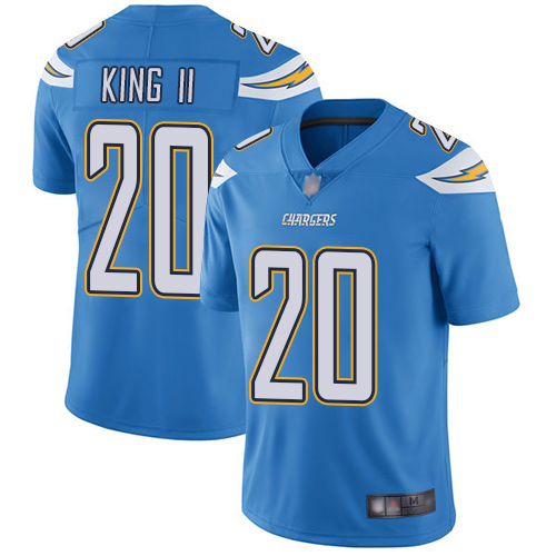 Chargers #20 Desmond King II Electric Blue Alternate Men's Stitched Football Vapor Untouchable Limited Jersey