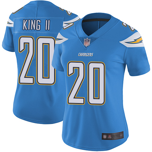 Chargers #20 Desmond King II Electric Blue Alternate Women's Stitched Football Vapor Untouchable Limited Jersey