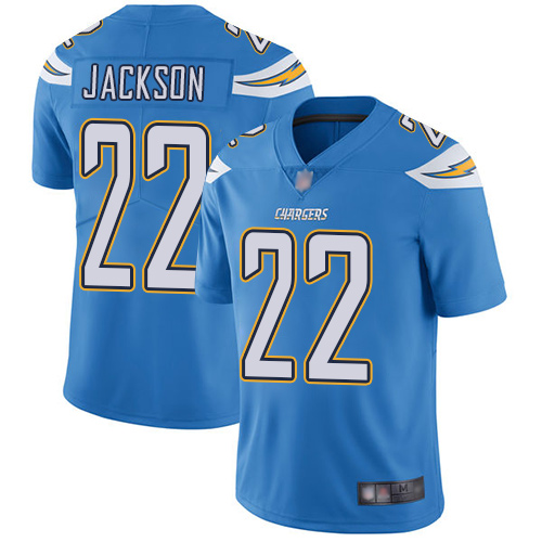 Chargers #22 Justin Jackson Electric Blue Alternate Men's Stitched Football Vapor Untouchable Limited Jersey