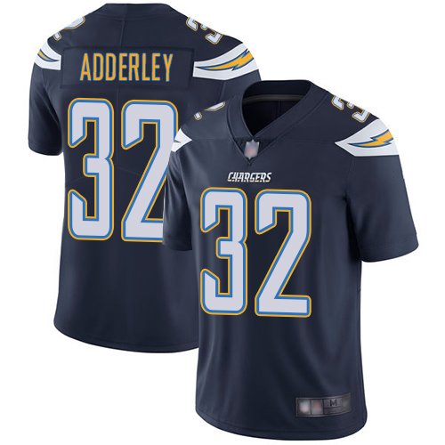 Chargers #32 Nasir Adderley Navy Blue Team Color Men's Stitched Football Vapor Untouchable Limited Jersey