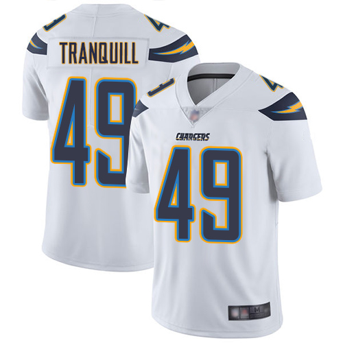 Chargers #49 Drue Tranquill White Men's Stitched Football Vapor Untouchable Limited Jersey