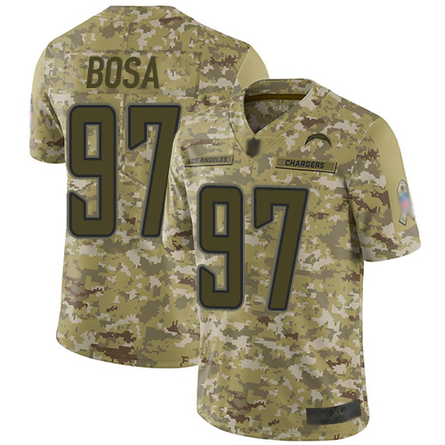 Chargers #97 Joey Bosa Camo Men's Stitched Football Limited 2018 Salute To Service Jersey