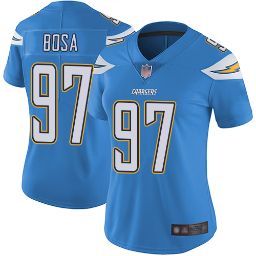 Chargers #97 Joey Bosa Electric Blue Alternate Women's Stitched Football Vapor Untouchable Limited Jersey