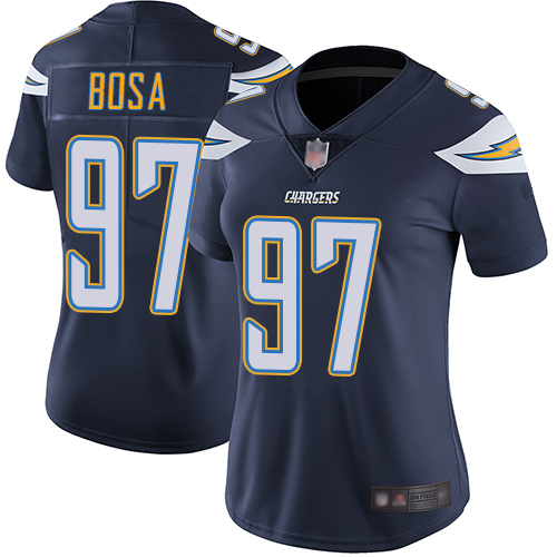Chargers #97 Joey Bosa Navy Blue Team Color Women's Stitched Football Vapor Untouchable Limited Jersey