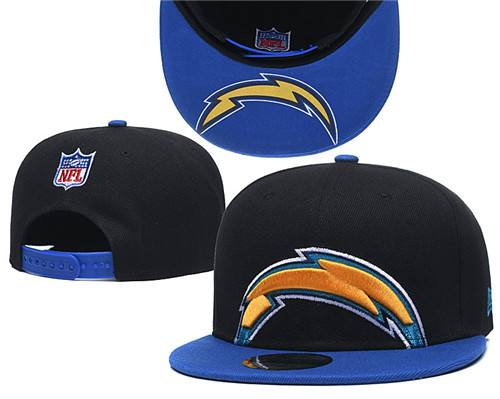 Chargers Team Logo Black Royal Adjustable Hat GS