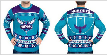 Charlotte Hornets Men''s NBA Ugly Sweater